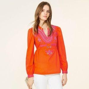 Tory Burch Claudia Tunic Pink & Tangerine NWT 10